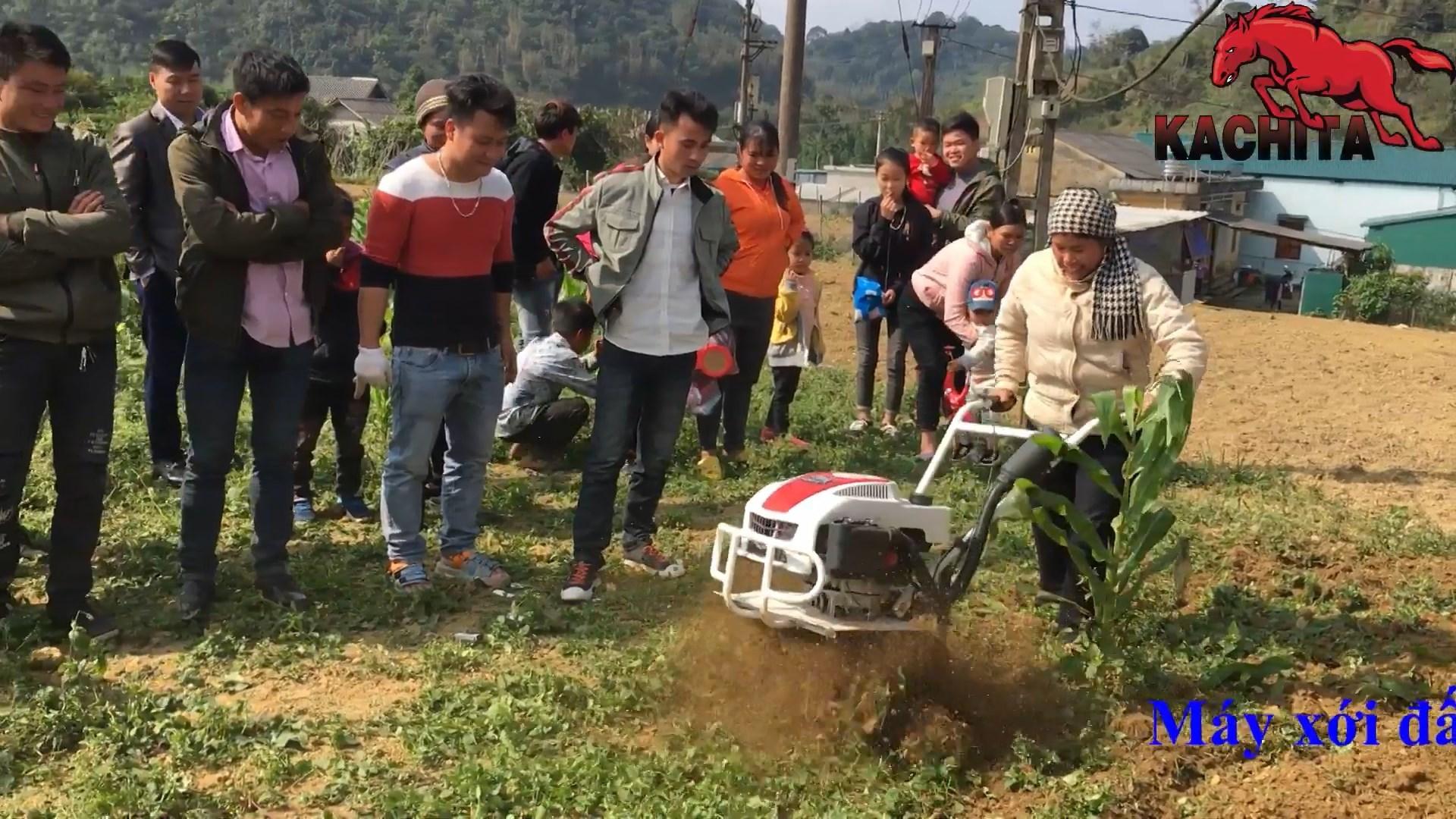 máy xới đất kachita 2wg1 canh tác trên đất đồi núi