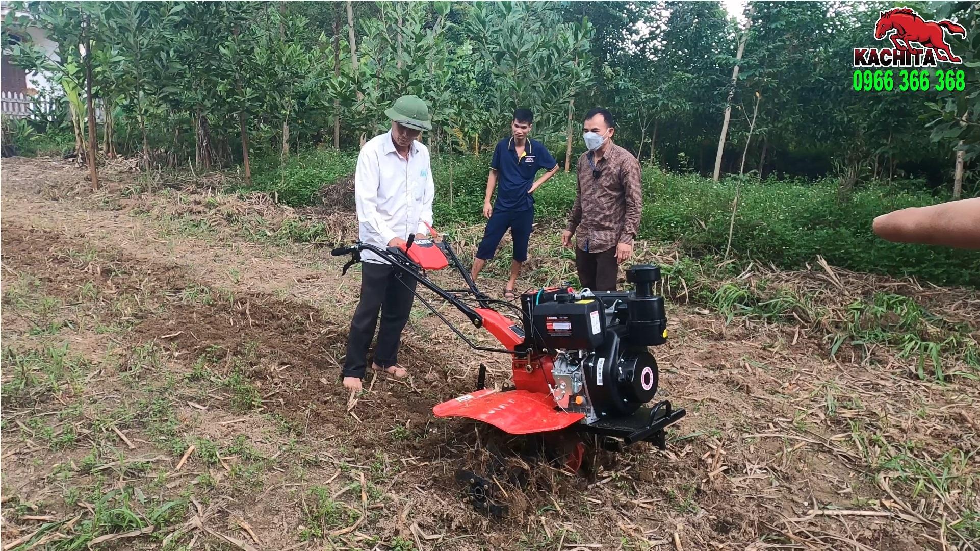 bàn giao máy xới đất tại Vĩnh Phúc tận nhà